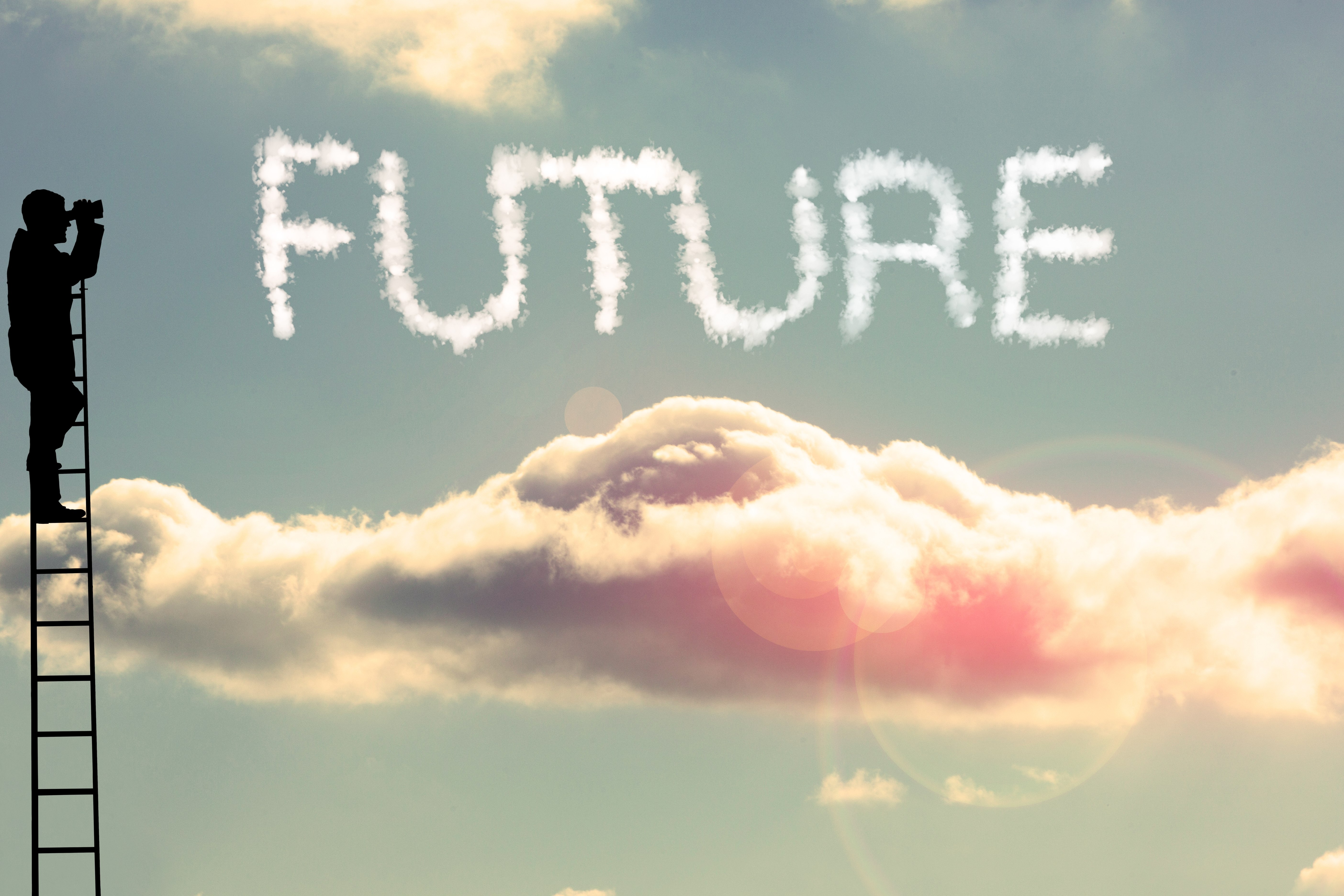 silhouette-looking-future
